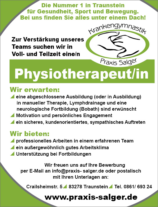 Karriere: Physiotherapeut/in